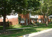brick townhomes